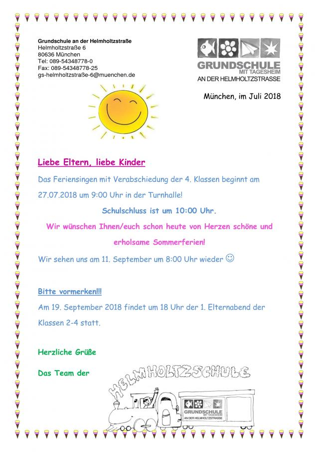 Aktuelles | Grundschule mit Tagesheim an der Helmholtzstraße